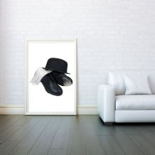 Tap dance, Decorative Arts, Prints & Posters, Wall Art Print, Poster Any Size - Black and White Poster